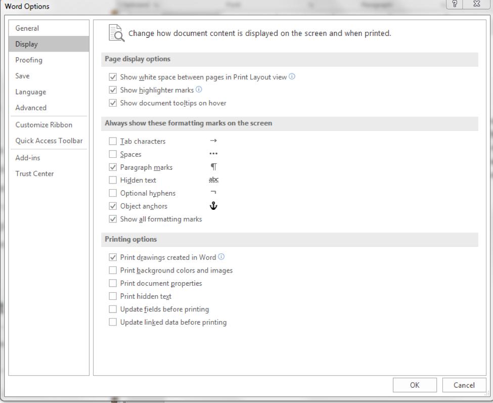 Microsoft Word Help